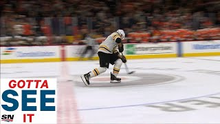 GOTTA SEE IT: Bruins Lose After Brad Marchand Overskates Puck In Shootout attempt