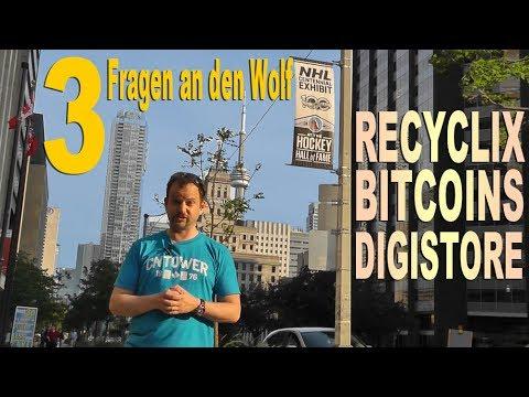 RECYCLIX – Geld zurück? BITCOINS – wie versteuern? DIGISTORE – Empfehlungsprovision – 3 FRAGEN