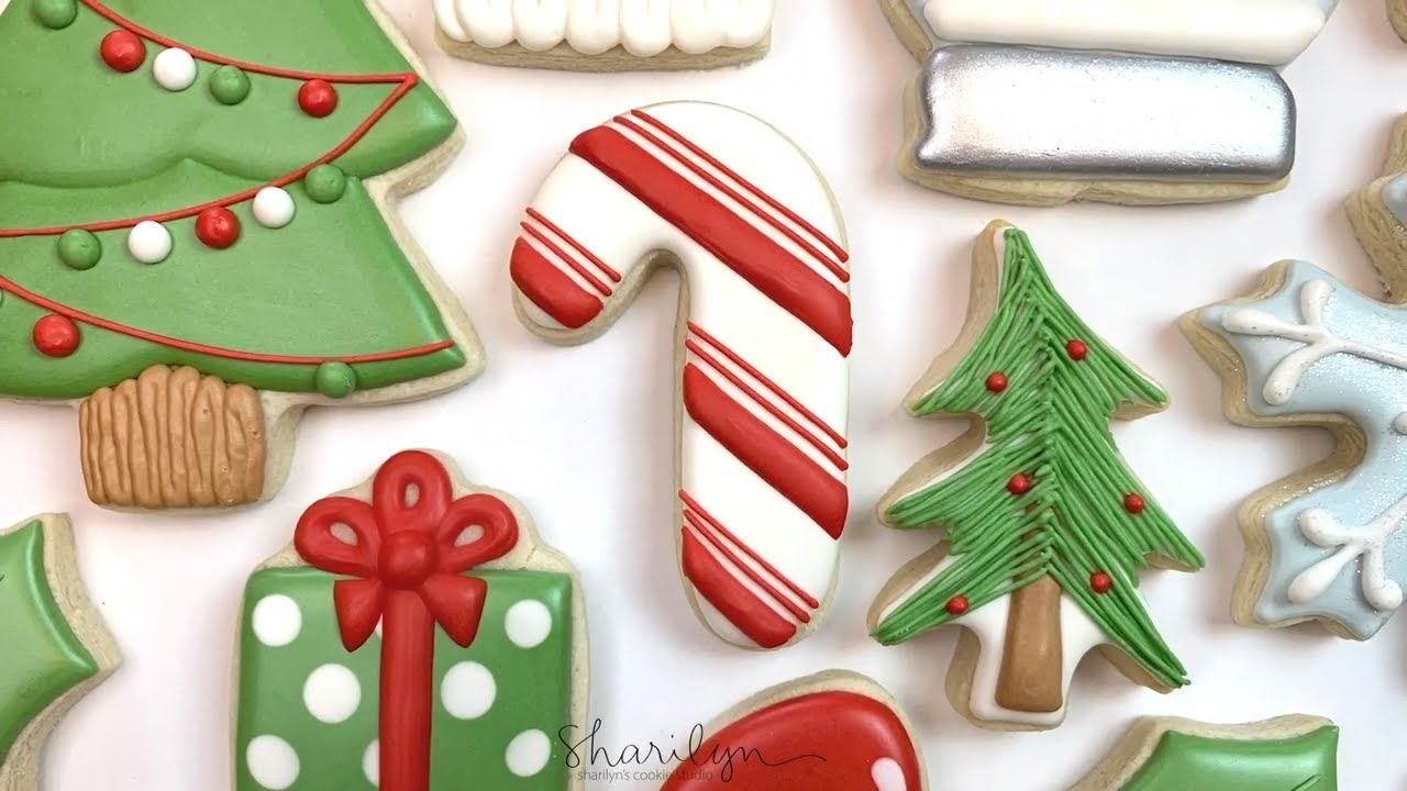 How To Decorate Easy Candy Cane Sugar Cookies! 12 Days of Christmas