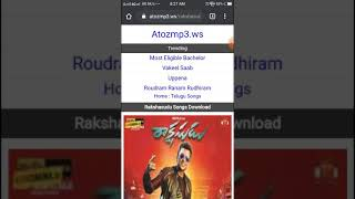 #atozmp3 website can Telugu songs, all languages songs for free download,.  new or old... Images