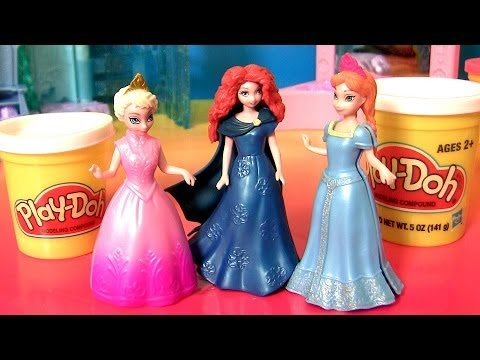 Disney Brave MagiClip Princess Merida Makeover Fashion Doll Play Doh Brave Elsa Anna Dolls from YouTube · Duration:  4 minutes 36 seconds