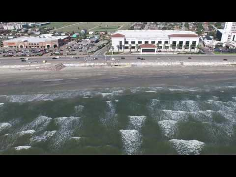 63rd to 51st Seawall Drone Video on Galveston Island, Texas
