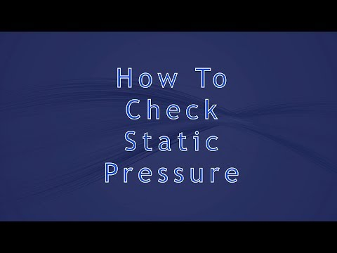 How To Check Static Pressure