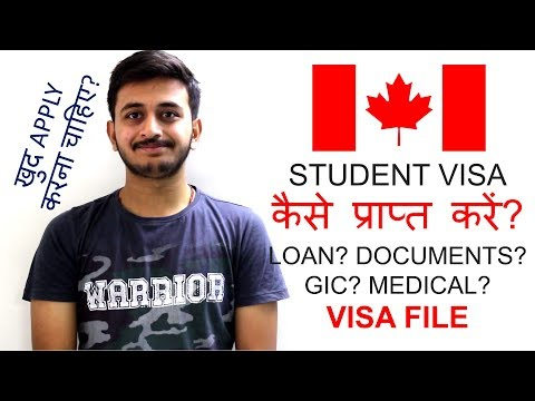 Canada Student Visa Process | Docs | Loan | GIC | Medical | In Hindi | Kevin Valani