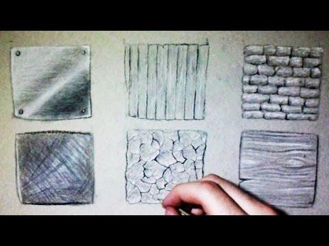 comment dessiner des textures bois pierre m tal terre. Black Bedroom Furniture Sets. Home Design Ideas