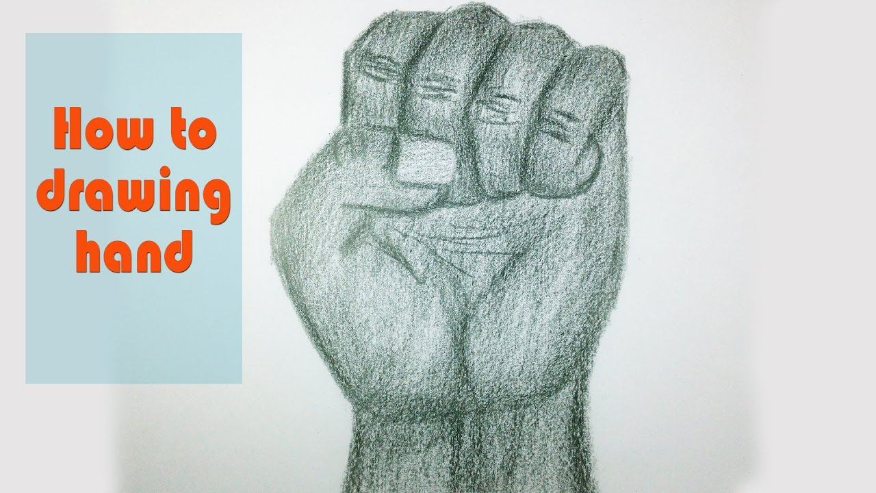 How To Drawing Hands  3d Drawing Tutorial