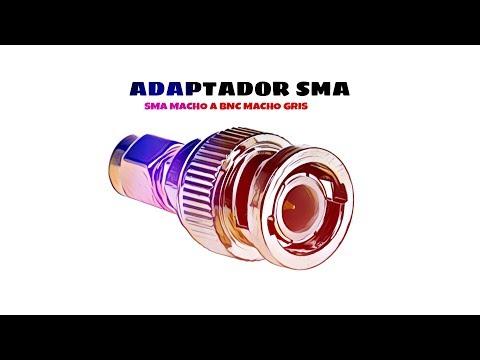 Video de Adaptador SMA macho a BNC macho  Gris
