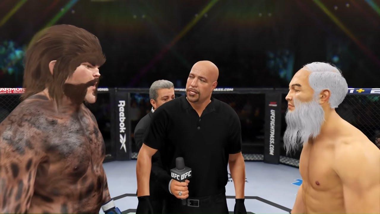 Wild Animal vs. Old Bruce Lee - EA sports UFC 4