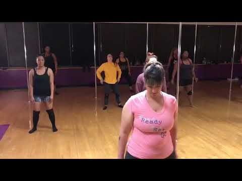 Dallas Pole Dance Studio performs class Twerk Routine