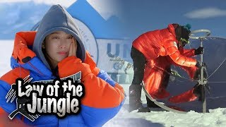 Jun Hye Bin's Jacket is Burning!!! [Law of the Jungle Ep 311]