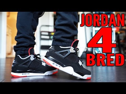 """2019 JORDAN 4 """"BRED"""" SNEAKER REVIEW AND ON FOOT !!! SNEAKER OF THE YEAR ?"""
