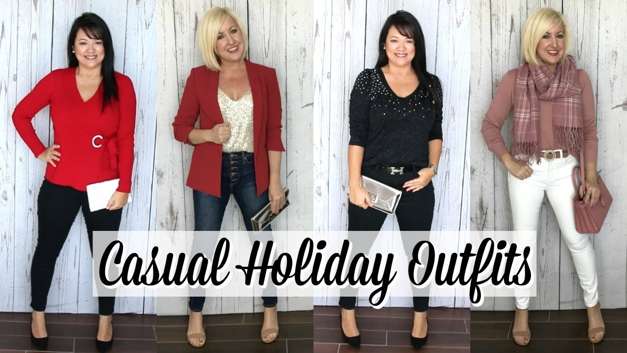 [VIDEO] - Casual Holiday Party Outfit Ideas | Winter Lookbook & Haul 1