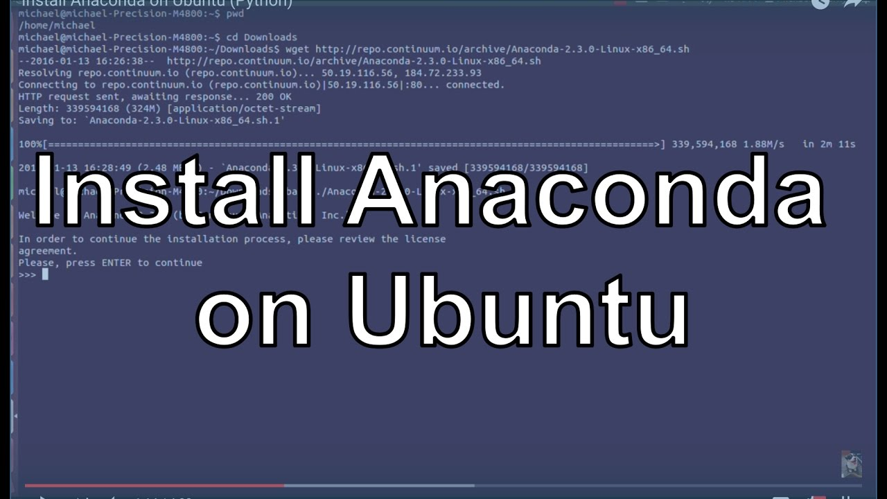 Install Anaconda on Ubuntu (Python)