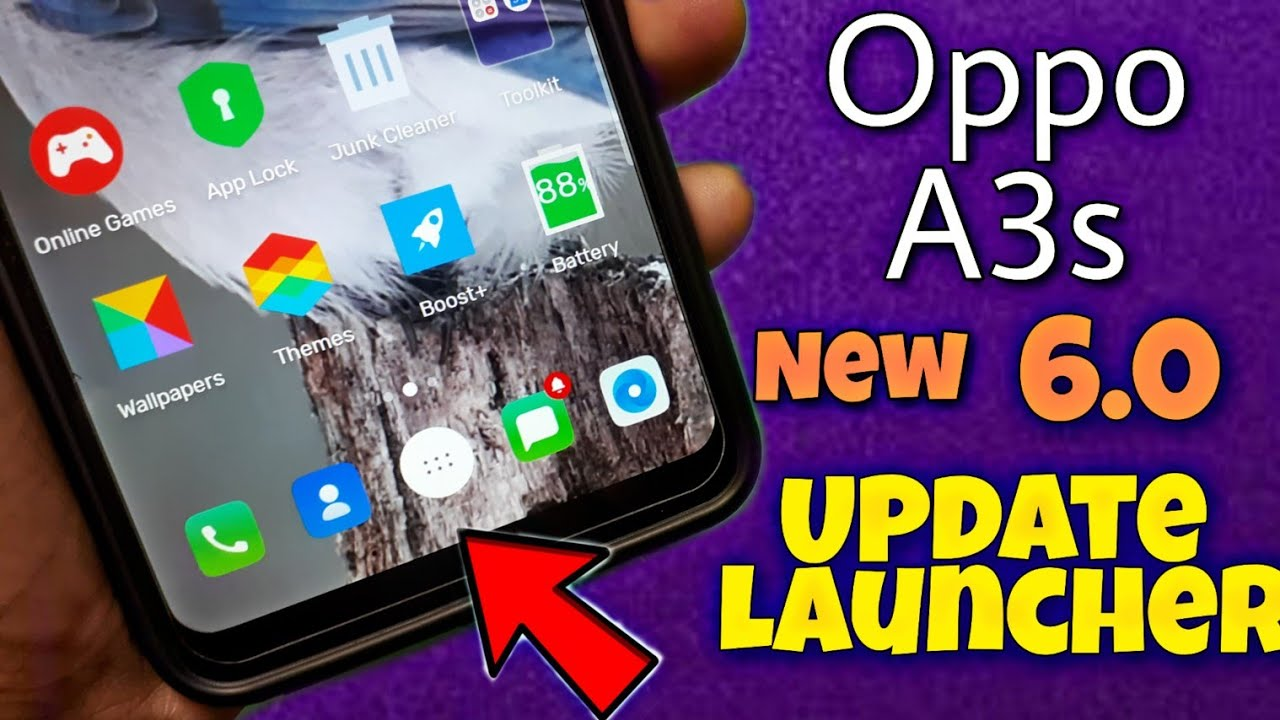 Oppo A3s New Update Launcher | oppo a3s 6 0 launchaer| Naveen Tomar creation