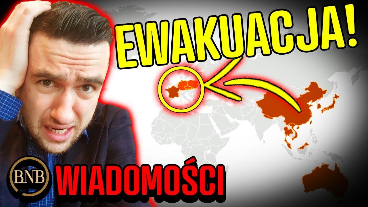 SZOK! Europejczycy EWAKUOWANI! Koronawirus W EUROPIE | WIADOMOŚCI