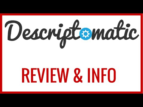 Descriptomatic Video SEO REVIEW & INFO + BONUS