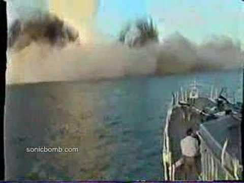 Sea mine detonation