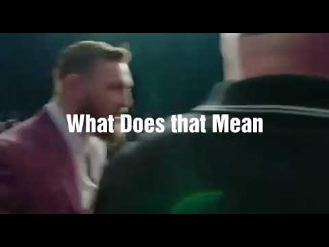Conor McGregor: I CAN SEE BLUE LIPS