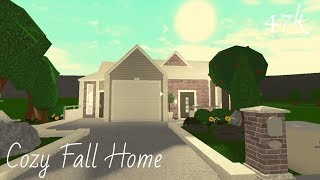 Roblox Welcome to Bloxburg || Cozy 47k Fall Home || - elysbuilds - ||