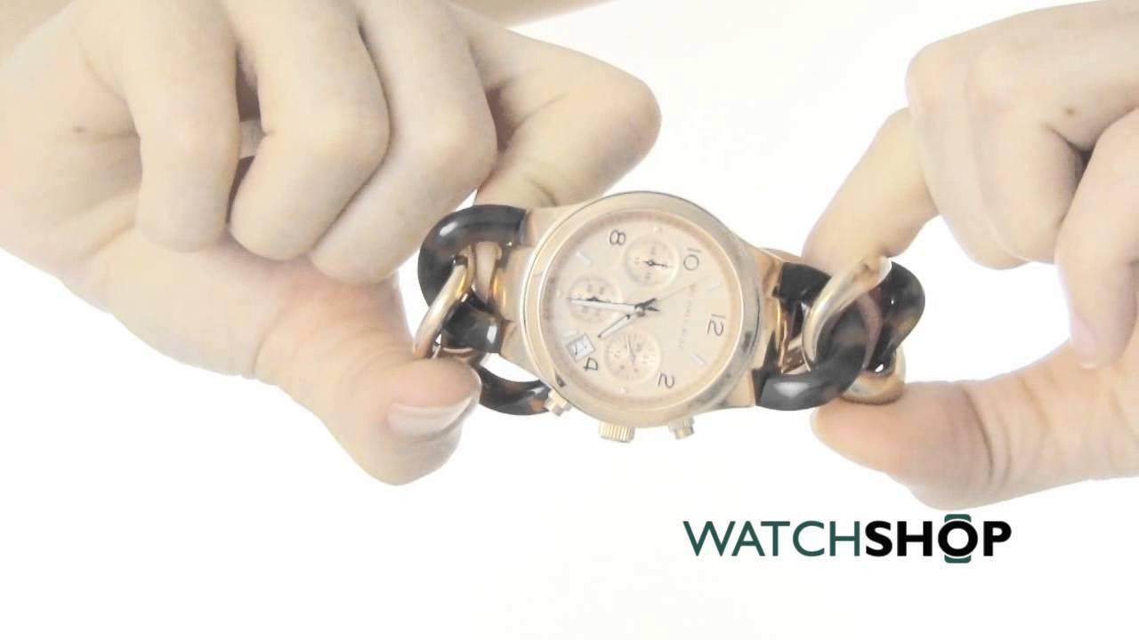 Michael Kors Ladies Runway Chronograph Watch Mk4269 Youtube 3131