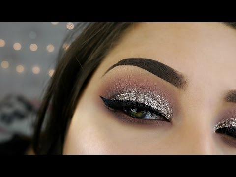 Easy Full Glam Glitter Smokey Eyes_Glitter Makeup Tutorial-Makeup Tutorial 2017_Beauty By JosiK
