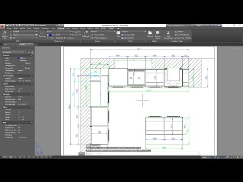3d-basic-kitchen-in-autocad---dimensioning,-exporting-to-pdf