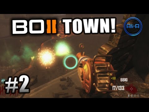 "Black Ops 2 ZOMBIES GAMEPLAY - ""TOWN"" Survival Live w/ Ali-A - Part 2 - Call of Duty BO2"