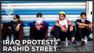 Baghdad's historical Rashid Street and its role in Iraq's protests