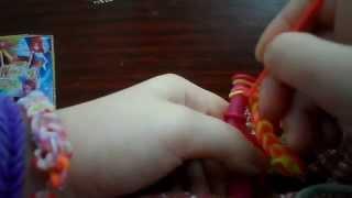 Видео урок как сделать браслет из ризинки