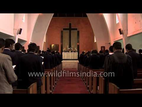 St.  Paul's School, Darjeeling: Chapel hymn 'Be Thou my vision'