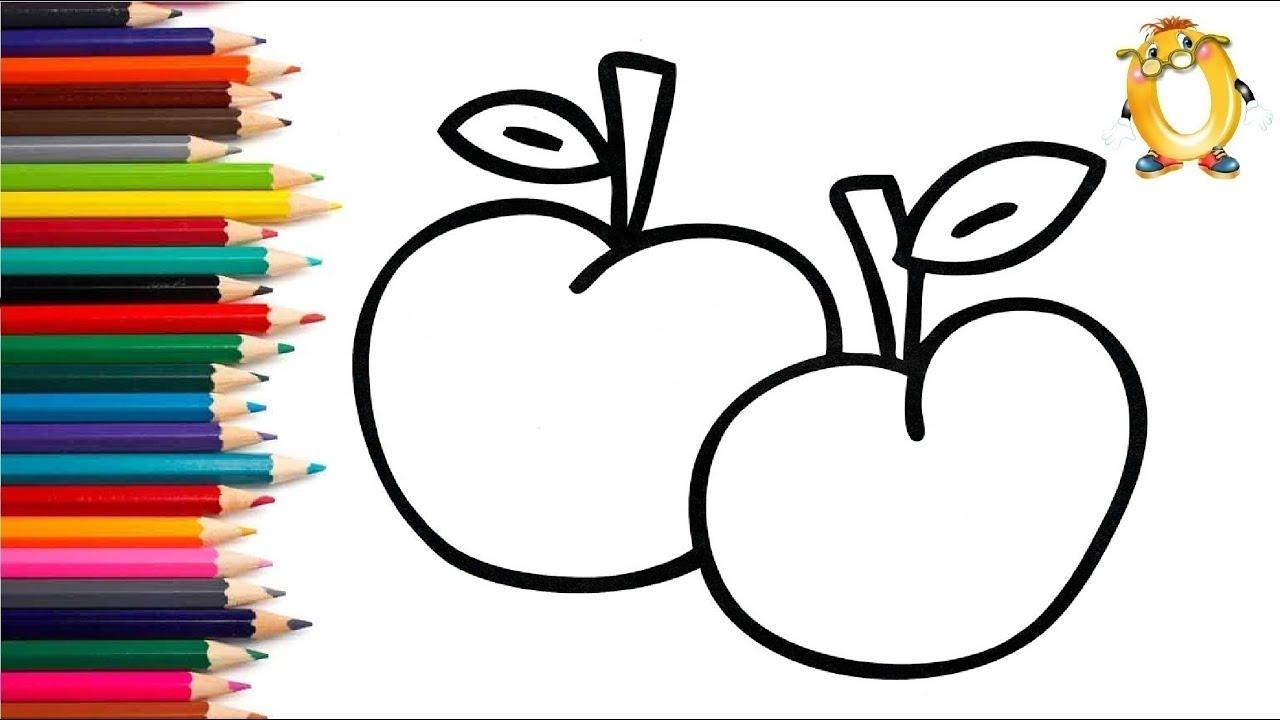 Раскраска для детей ВКУСНЫЕ ЯБЛОКИ. Мультик - Раскраска ...