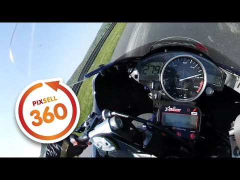 360 VIDEO: Amazing YAMAHA R6 ride at speed of 279 km/h