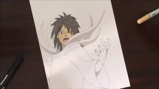 Speed drawing Shiro Zetsu Obito ( Naruto Shippuden )