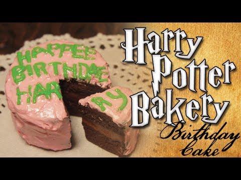 Harry Potter Clay Bakery Harrys Birthday Cake YouTube