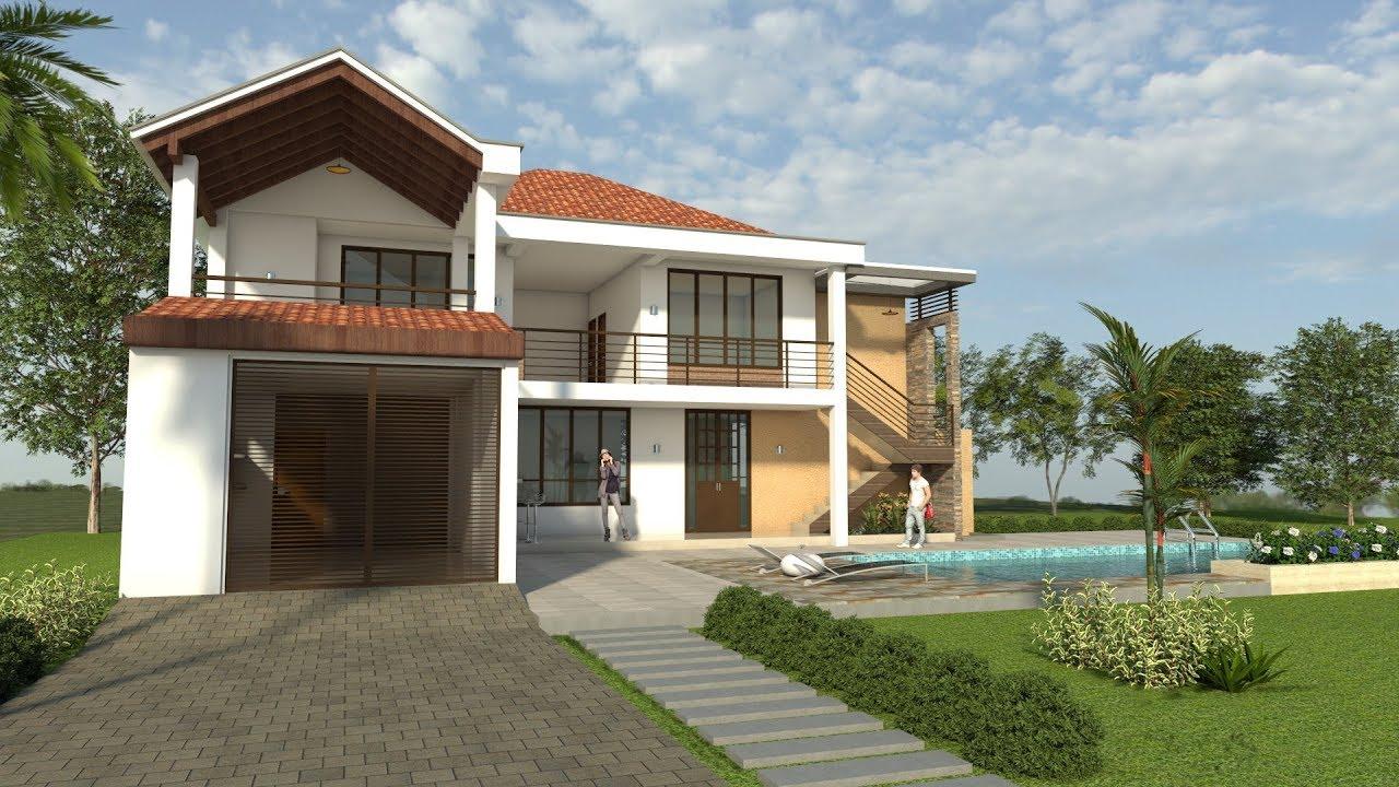 Planos de casas dise o campestre moderno de dos pisos for Disenos arquitectonicos de casas modernas