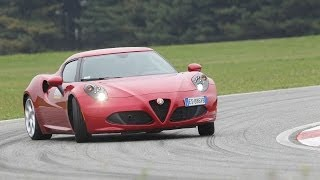 Alfa Romeo 4C - Test by DRIVE magazine & 0-200 km/h acceleration (ENG subs)