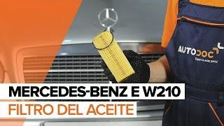 Cómo cambiar el aceite de motor, filtro de óleo en MERCEDES-BENZ E W210 INSTRUCCIÓN | AUTODOC
