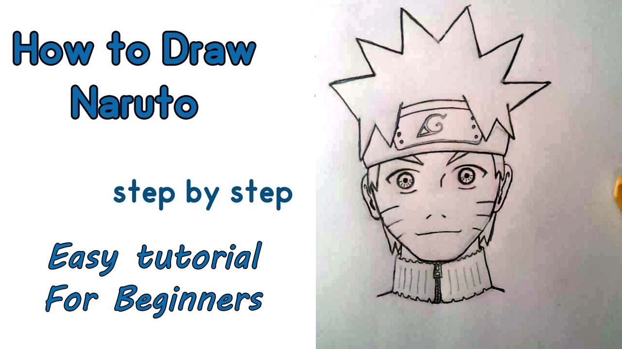 How to draw naruto beginners