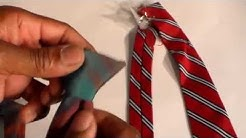 How to make a clip on necktie
