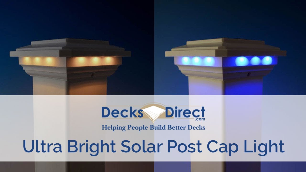 Solar Post Cap Light For 4 Inch Sleeves By Ultra Bright Technologies