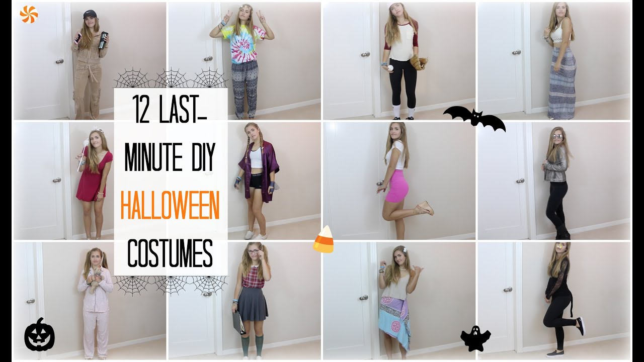 12 LAST-MINUTE DIY HALLOWEEN COSTUMES!! | Mel Joy - YouTube