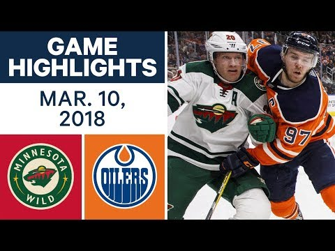 NHL Game Highlights | Wild vs. Oilers - Mar. 10, 2018