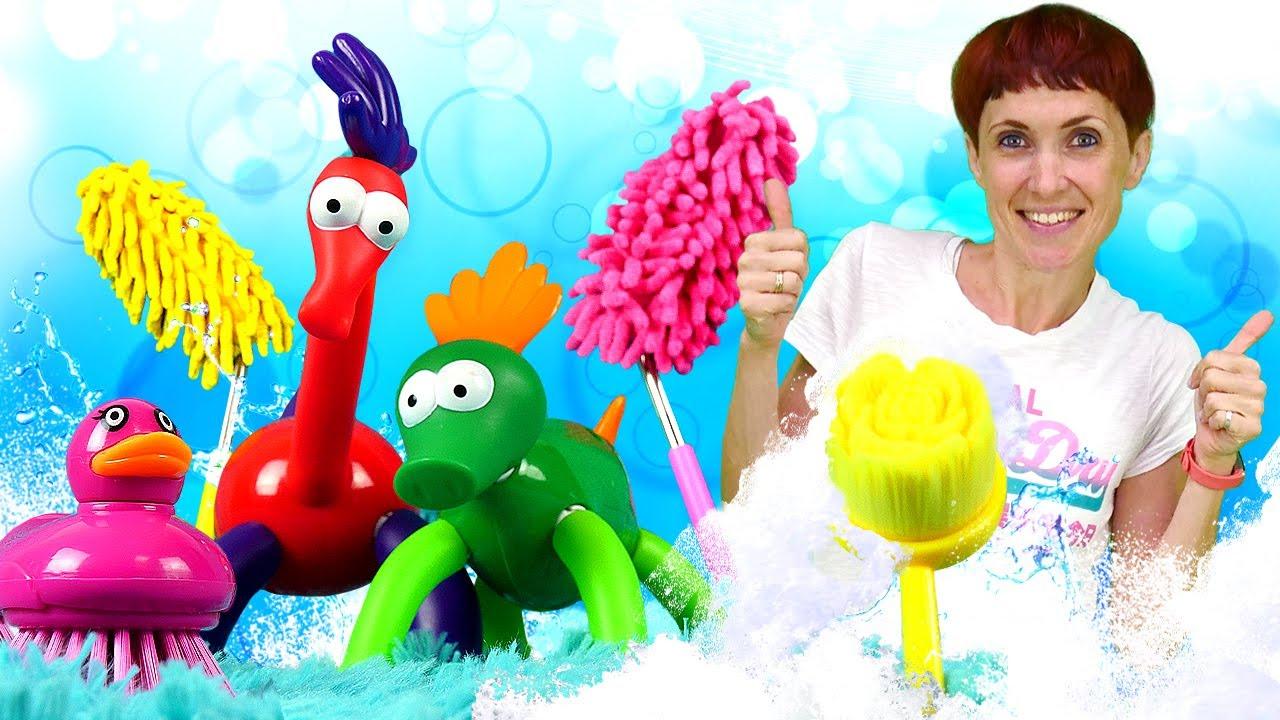 Видео для детей - Игрушки ЧУДИКИ в ванной - Пора купаться и Маша Капуки Кануки