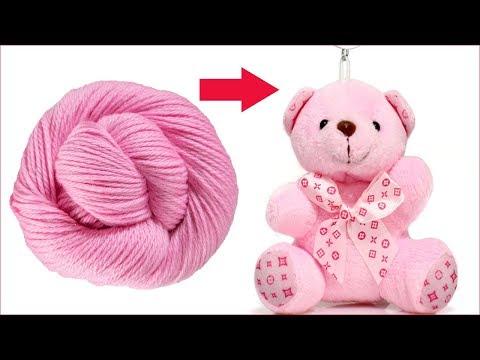 Teddy Bear Making With Wool   Teddy Bear KeyChain Making   Soft Toys Making   Teddy Bear Making