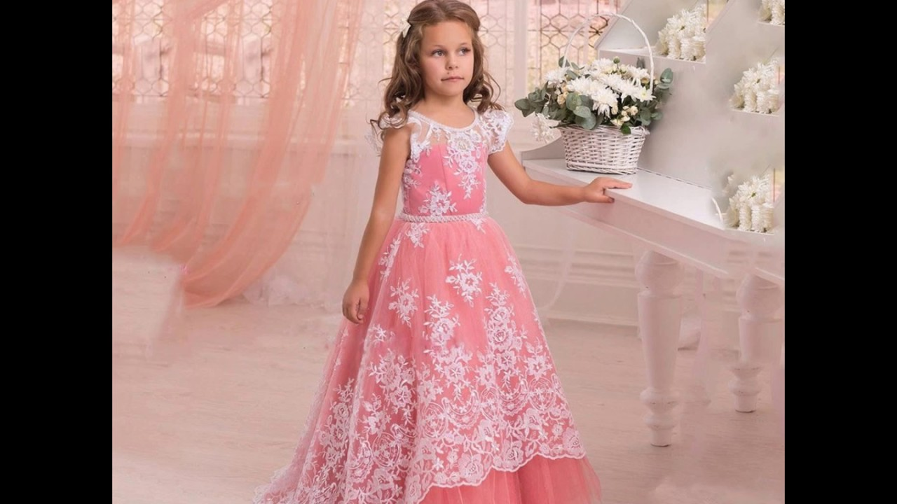 9ad695dd6 Beautiful New collection of baby girl gown dresses ;Kids latest Western wear  design dress