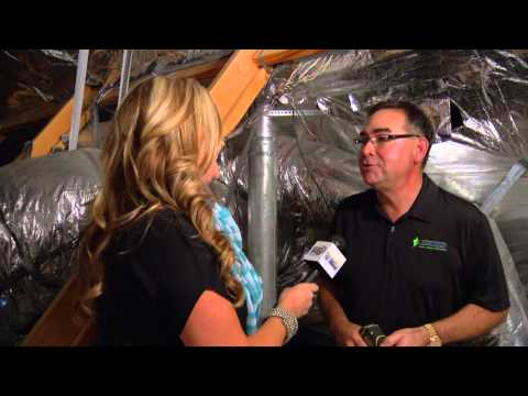Richard Ramos & Shelly Miles Show How Radiant Barrier Works
