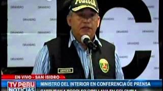 CONFERENCIA DE PRENSA: MINISTRO DEL INTERIOR DA DETALLES SOBRE CAPTURA DE ORELLANA (PARTE 1)