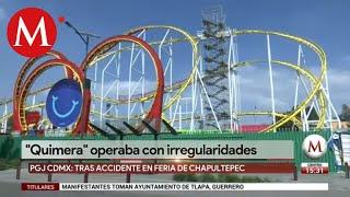 Por homicidio, PGJ va contra responsables de accidente en La Feria de Chapultepec