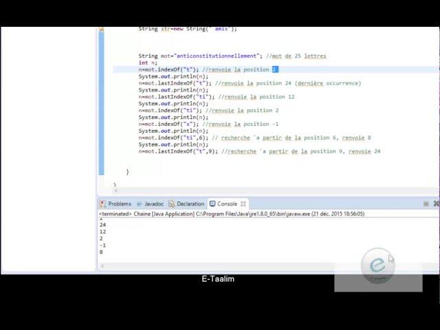 Java : Rechercher dans une chaîne de caractères