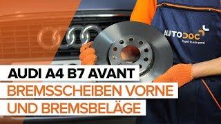 Montage AUDI A4 Avant (8ED, B7) Bremsklötze: kostenloses Video